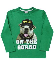 Sela Full Sleeves T-Shirt On The Guard Print - Green