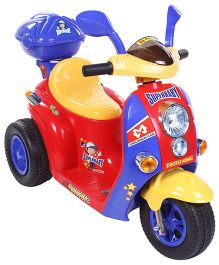 Battery Operated Three Wheel Bike Ride-On Red And Yellow - QX 7366