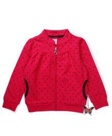 Sela Full Sleeves Sweat Jacket - Pink