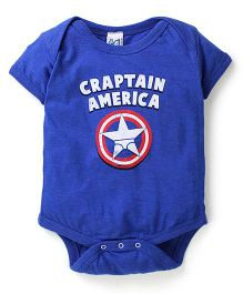 Captain America Infant Onesies - Royal Blue