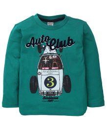 Sela Full Sleeves T-Shirt Auto Club Print - Green