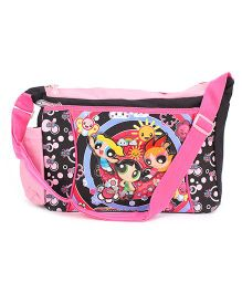 Power Puff Girls Messenger Bag Black And Pink - Height 10 Inches