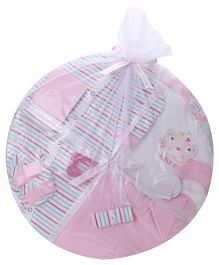 1st Step Clothing Basket Gift Set Kitty Print Pack Of 14 - Pink