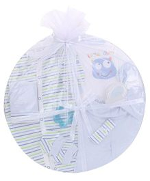 1st Step Clothing Basket Gift Set Kitty Print Pack Of 14 - Blue