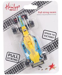 Hamleys Pull String F1 Racer Cars - Yellow And Blue