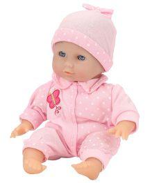 Hamleys Calinou Sitting Baby Doll Pink - 30 cm
