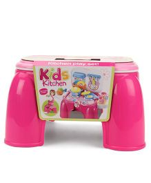 Hamleys Comdaq Kitchen Stool Set Pink - 20 Pieces