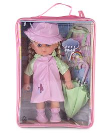 Hamleys Calinou Umbrella Doll Set -  Pink
