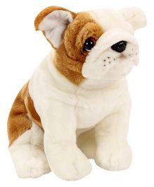 Hamleys Bull Dog Soft Toy - White