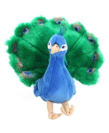Hamleys Plush Peacock Toy - Green