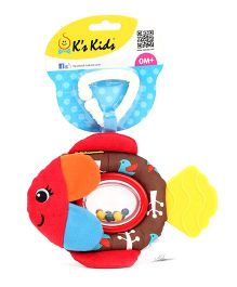 K's Kids Rattling Fippo Fish - Brown