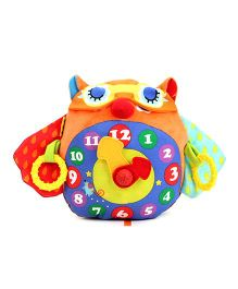 K's Kids Day and Night Owl Clock - Orange