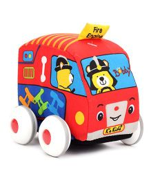 K's Kids Pull Back Auto - Fire Engine