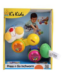 K's kids Press N Go Inchworm (Color May Vary)