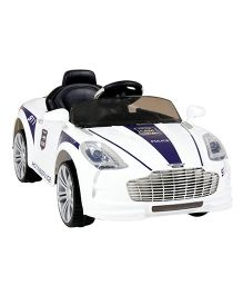 Happykids Battery Operated Ride-On Police Car - White