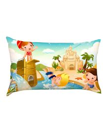 Stybuzz Swimming Kids Baby Pillow - Multicolour