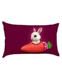 Stybuzz Bunny With Carrot Baby Pillow - Purple