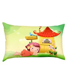 Stybuzz  Child in Grass Baby Pillow - Multicolour