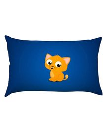 Stybuzz Little Kitty Baby Pillow - Blue