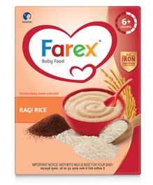Farex Ragi Rice Fortified Baby Cereal - 300 gm