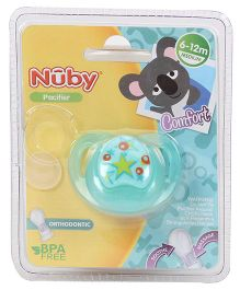 Nuby Orthodontic Pacifier - Aqua green