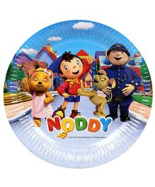 Noddy Paper Plates Blue And Multicolor - Pack Of 10