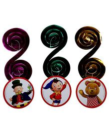 Noddy Paper Round Cutout Dangling Swirls - 3 Pieces