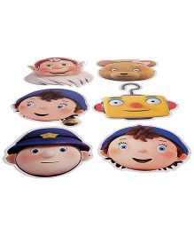 Noddy Paper Face Mask - Pack of 6