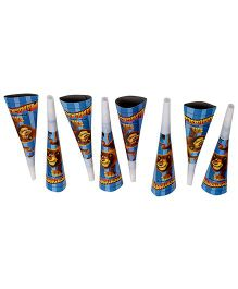 Madagascar Paper Blowout Horns - 8 Pieces