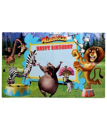 Madagascar Paper Happy Birthday Poster - 1 Piece