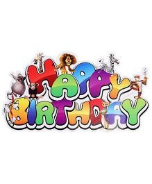Madagascar Paper Happy Birthday Banner - 1 Piece