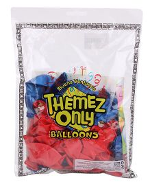 Themez Only Spiderman Rubber Play Balloons - 50 Pieces