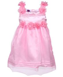 Cupcake Celebrations Floral Applique Party Frock - Pink