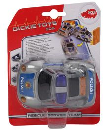 Dickie Freewheel Rescue Service Team Police Toy Car - Blue And Grey