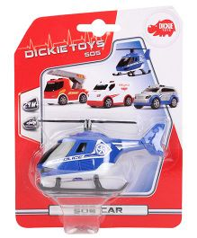 Dickie Freewheel Police Helicopter Toy - Blue