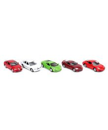 Welly Die Cast Toy Cars Deluxe Pack Of 5 - Multi Colour