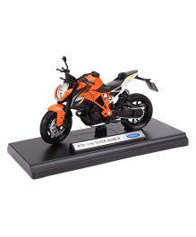 Welly KTM 1290 Super Duke R Diecast Model Bike - Orange Black