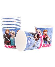 Disney Frozen Paper Cups Pack Of 10 Light Purple - Each 200 ml