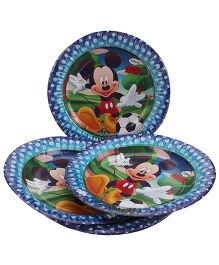 Disney Mickey Mouse And Friends Paper Plate Large - Blue