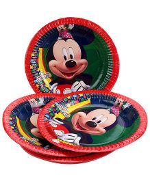 Mickey Mouse And Friends Paper Plate Large - Red