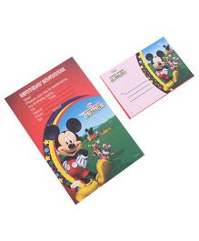 Disney Mickey Mouse & Friends Club House Invitation & Envelopes Pack Of 10 - Multi Color