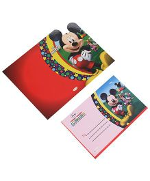 Disney Mickey Mouse Club House Die-Cut Invitation & Envelopes Pack Of 10 - Red