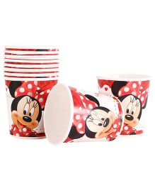Disney Minnie Mouse Paper Cups Pack Of 10 Red - Each 200 ml