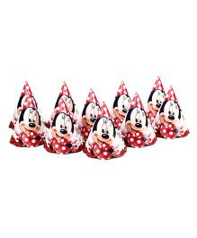 Disney Minnie Mouse Paper Caps Pack Of 10 - Red