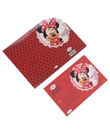 Disney Minnie Mouse Die-Cut Invitation & Envelopes Pack Of 10 - Red