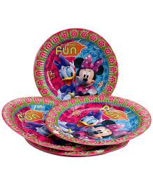 Disney Minnie Mouse Club House Paper Plate Large - Multi Color