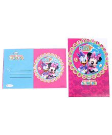 Disney Minnie Club House Die Cut Invitation & Envelopes Pack Of 10 - Pink & Blue