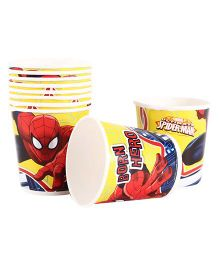 Spider Man Paper Cups Pack Of 10 Multi Color - Each 200 ml