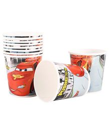 Disney Pixar Cars Paper Cups Pack Of 10 Multi Color - Each 200 ml