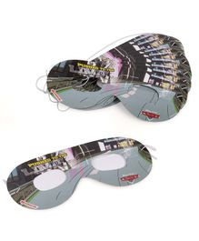 Disney Pixar Cars Eye Masks Pack of 10 - Black & Grey